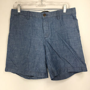Banana Republic 6 Shorts Blue Chambray